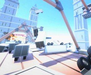 24 минуты геймплея Clustertruck – Mirror's Edge с сотнями грузовиков