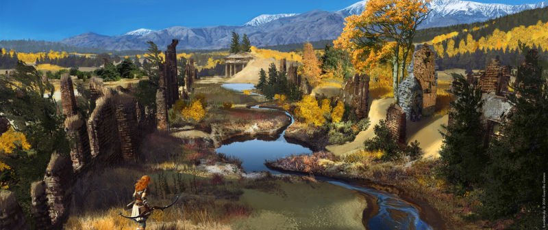 Прекрасные концепты Horizon: Zero Dawn отхудожников «Игры престолов» - Изображение 8