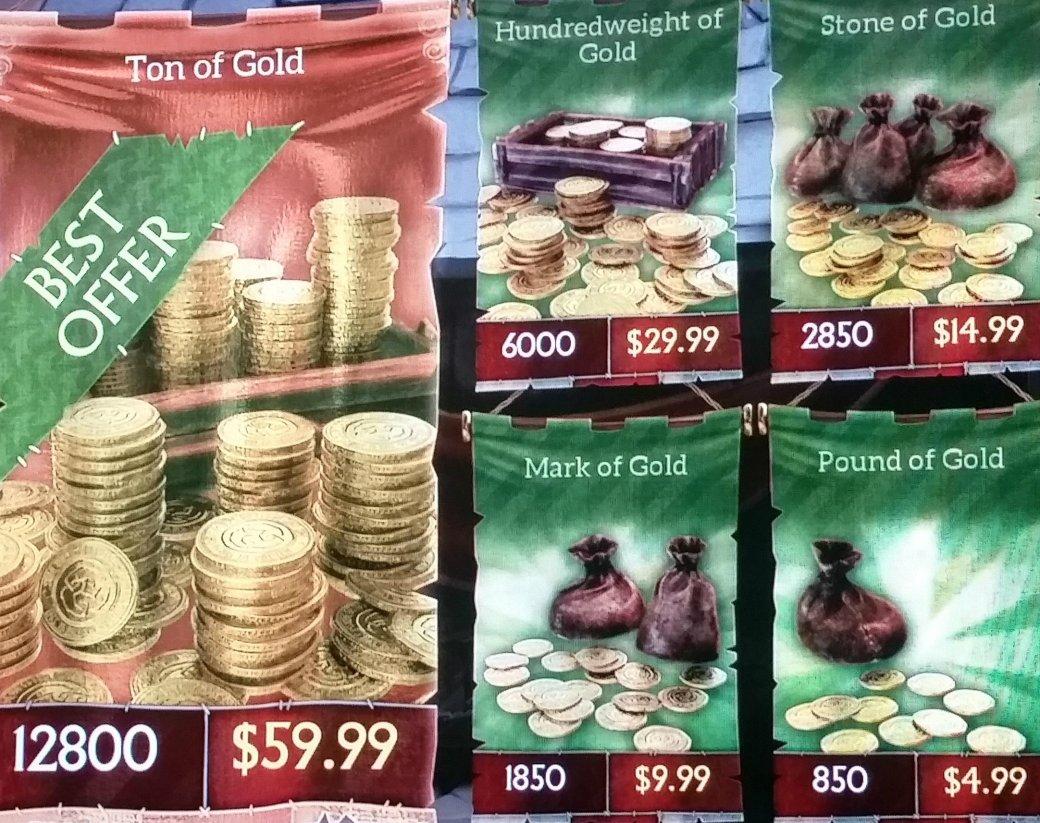 Утечка цен на микротранзакции Fable Legends: $60 за тонну золота - Изображение 2