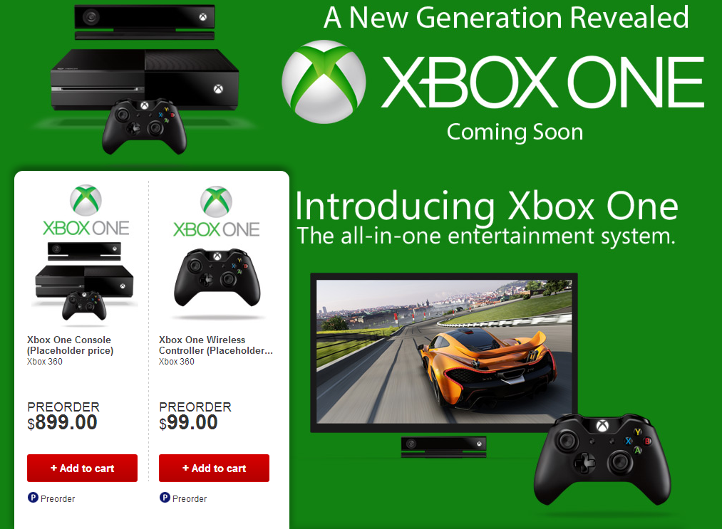 Стала известна цена консоли Xbox One - Изображение 1