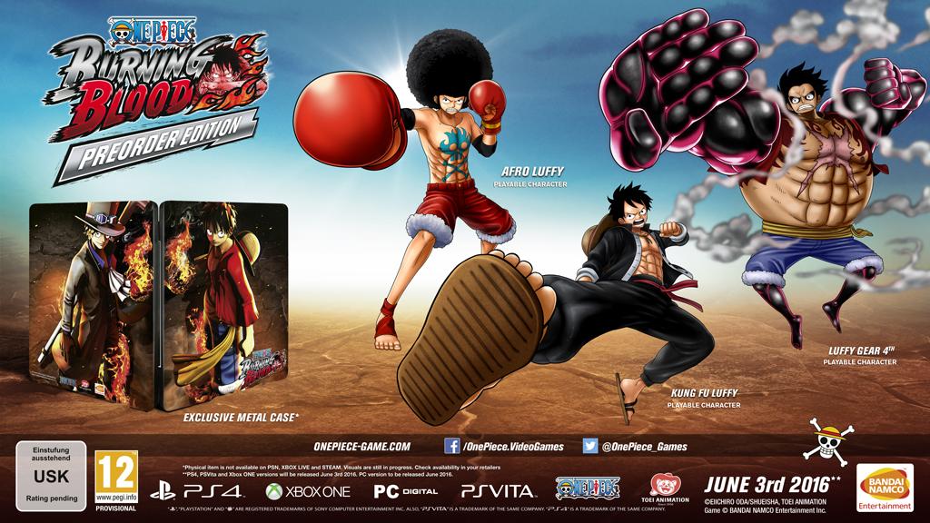 One Piece: Burning Blood теперь с датой релиза, три Луффи за предзаказ - Изображение 1