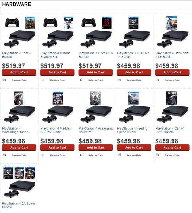 Стали известны первые комплекты Xbox One и PlayStation 4 - Изображение 1