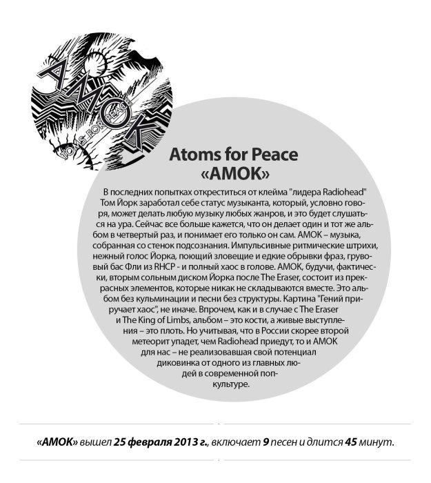 Альбом недели: Atoms for Peace «AMOK» - Изображение 1