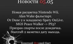 Игровые новости, короткий игровой каст 05.05.2010