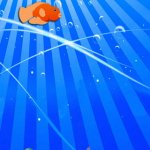Скриншот Flappy Cute Golden Fish : The Ocean Splashy Adventure - Gold – Изображение 1
