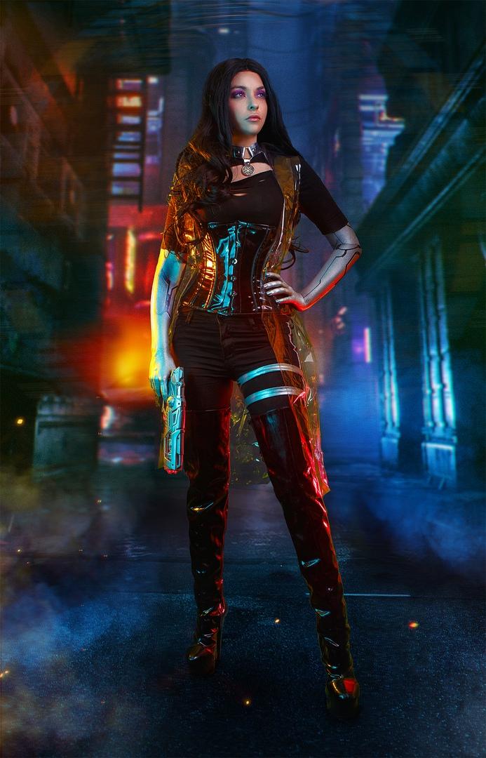 Какбы выглядели Геральт, Йорвет, Шани, Йеннифэр иБьянка вмире Cyberpunk 2077? | Канобу - Изображение 6