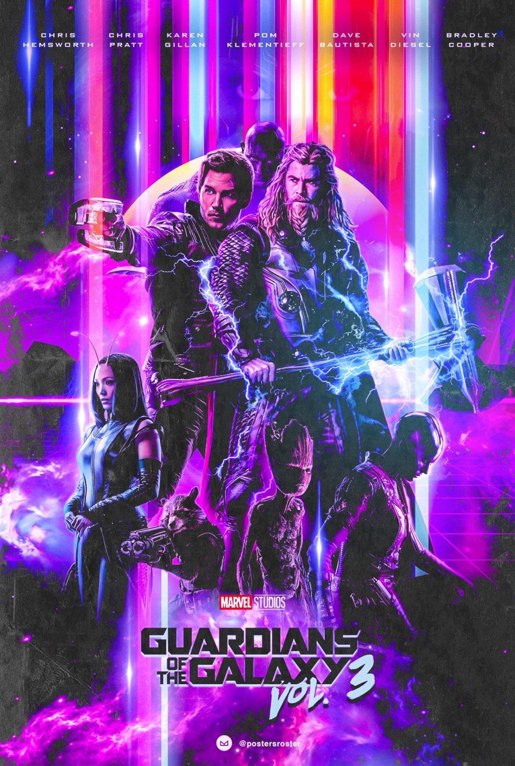 Фанатский постер «Стражей Галактики 3» настолько стильный, что ему впору быть официальным | Канобу - Изображение 2