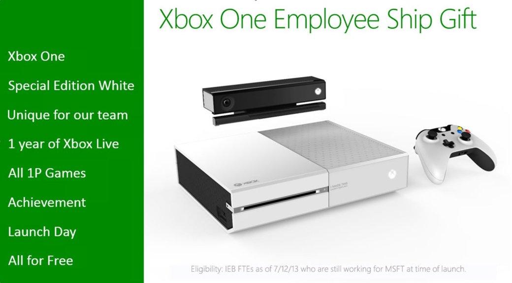 Сотрудники Microsoft получат в подарок белую консоль Xbox One | Канобу - Изображение 16275