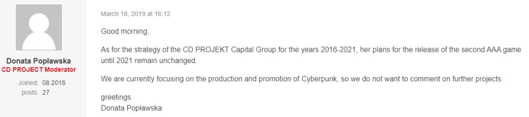 CDProjekt RED выпустит к2021 году неодну, адве крупныеRPG? | Канобу - Изображение 2