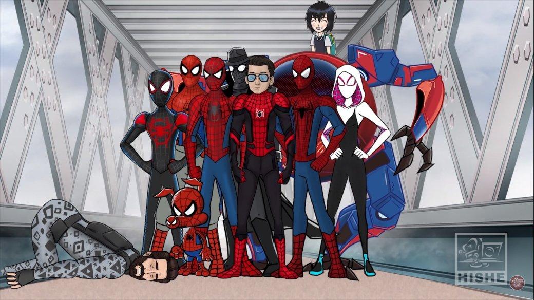 Настоящий Spider-Verse взабавном ролике HISHE оконцовке «Человека-паука: Вдали отдома» | Канобу - Изображение 1