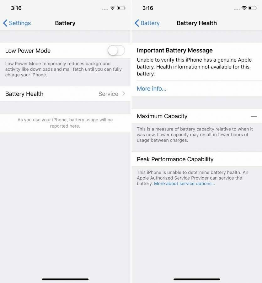 Теперь iPhone считает дефектными все батареи, установленные не в сервисном центре Apple  | SE7EN.ws - Изображение 2